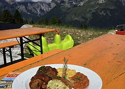 Lunch with a view on Brenta Dolomites